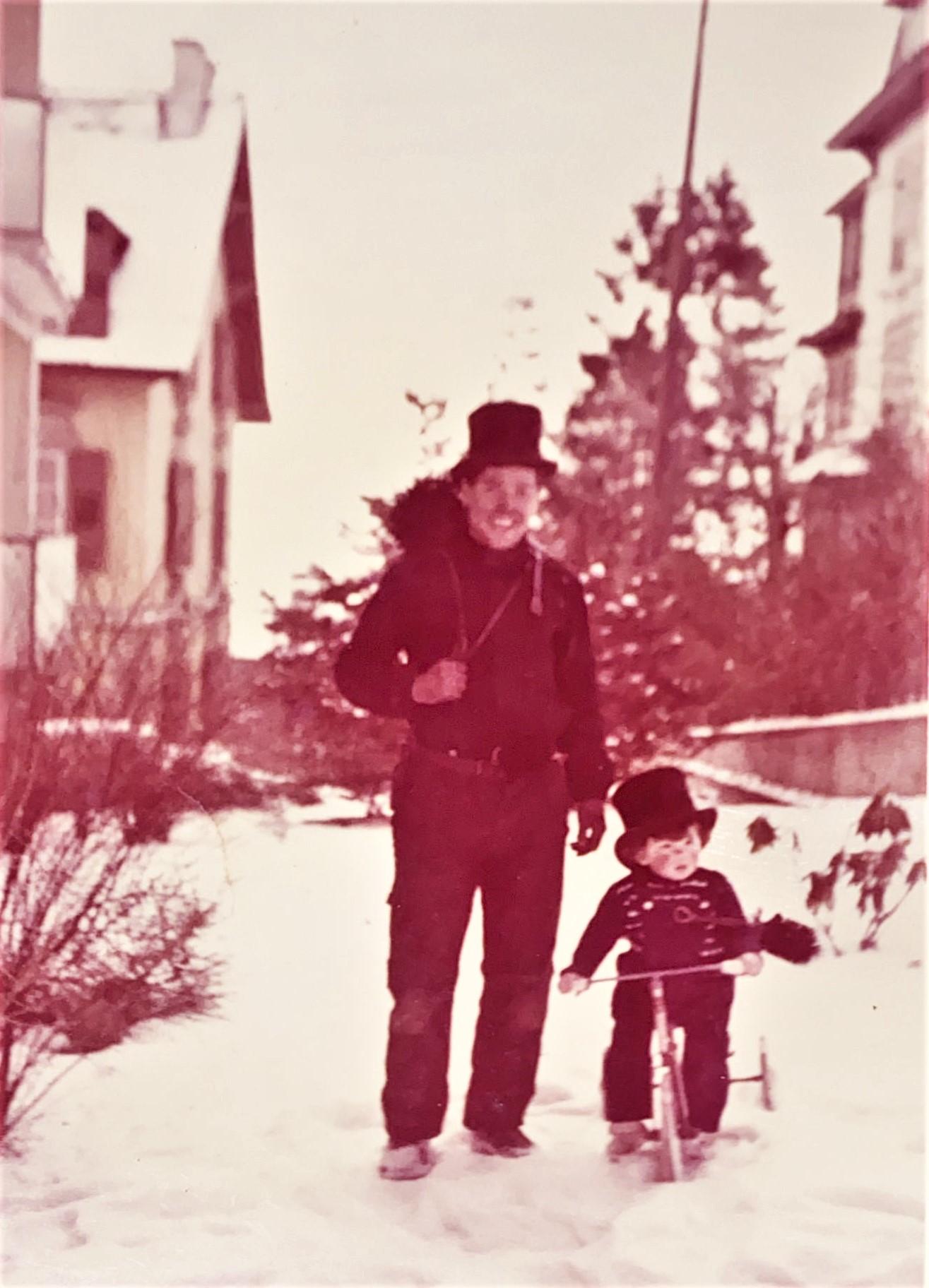 Raymond et Patrice, hiver 1962